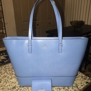 Kate Spade tote w/matching coin purse